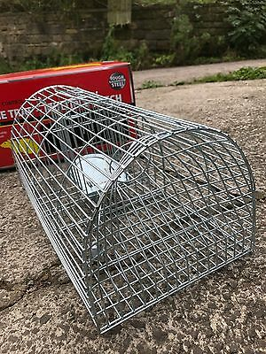 Pest-Stop Systems Galvanised Steel Mink Cage Trap Live Capture 30in PRCPSMCAGE
