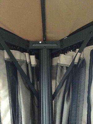 Gazebo 3X4 Giardino In Alluminio Telo Impermeabile Poliestere Pu Con Air Vent 8