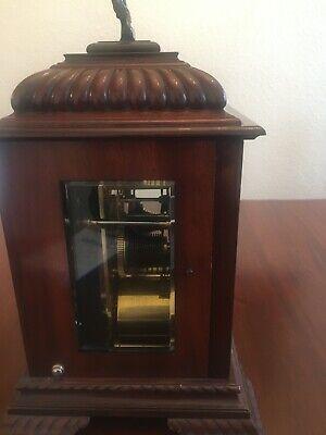 Mahogany bracket clock, fine quality Englishdouble fusée movement 7