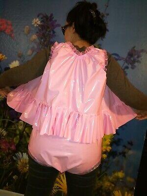 Adult Baby Set Pvc Slips+ Oberteil Gummihose Lack Windelhose Pants Hello Kitty 4
