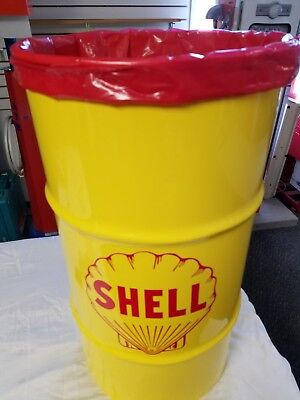 GULF 24 HOURS OF LEMANS 1968 1969 TRIBUTE 16 GALLON COLD ROLLED STEEL TRASH CAN