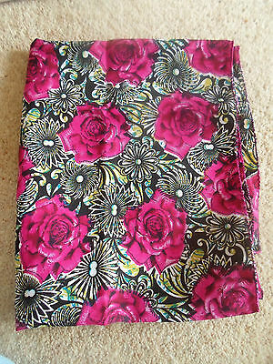 1 NEW Colourful Mixed Fibre Ladies Scarf PINK+BLACK FLORAL ~ Gift Idea #37 3