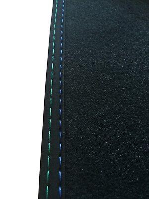 F21 Velours Deluxe anthrazit Nubukband Naht M-Optik Fußmatten für BMW 1er F20