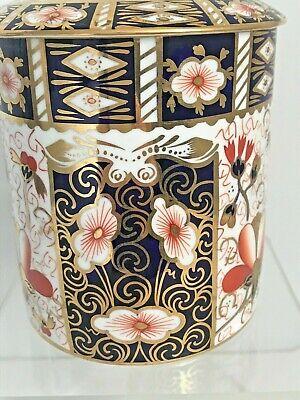 Rare Royal Crown Derby 2451 Or Traditional Imari Condiment Jar - Date Code 1917 3
