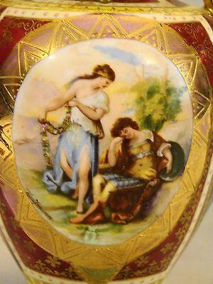 Vienna Cabinet Urn Vase after Angelica Kaufmann Blue Royal Vienna Style Beehive 6