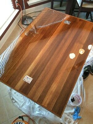 Vintage TEAK Yacht Boat Hatch Cover For Table Top Repurpose 11
