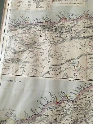 Letts, Son & Co Map Of Algeria C1883 Sources Of Supply And Exports