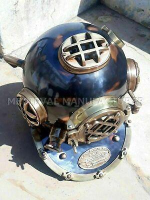 "Antique 18"" Diving vintage BOSTON MARK V U.S Navy Deep Sea Divers Helmet Replica 5"