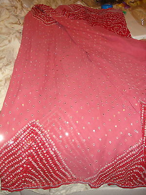 Ladies/girls Crepe Bandhini Saree With Sequence Work, Beading & Matching Blouse 8