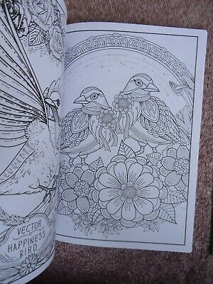 MIND RELAXATION - ADULTS COLOURING BOOK - BIRDS or ANIMALS - ANTI-STRESS 2