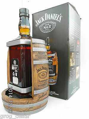 Jack Daniels 1.75L Timber Cradle 2014 Complete With Bottle/Boxed -RARE!!!!!!! 5