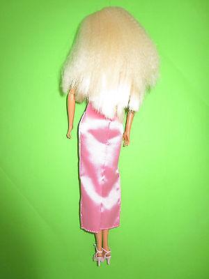 B493-Blonde Barbie Mattel 1998 Neckholder-Kleid Mit Label Bewegliche Ellenbogen 6