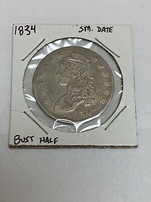 1834 Small Date Capped Bust Silver Half Dollar 6