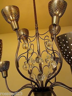 Vintage Lighting 1950s Mid Century high quality chandelier 4