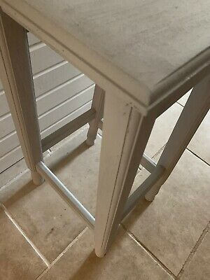 Stylish Plinth Display Stand Stool Table Paris Grey Old Pine 5