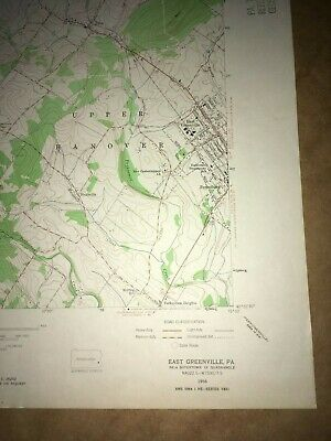 E. Greenville PA Montgomery USGS Topographical Geological Survey Quadrangle Map 5