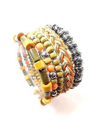 Wholesale Job Lot 200 Mens Bracelet Sets Unique Cool Retro Beaded Trendy Summer