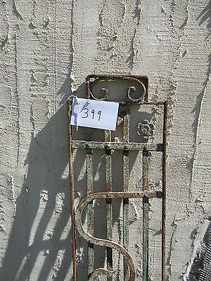 Antique Victorian Iron Gate Window Garden Fence Architectural Salvage Door #399 2