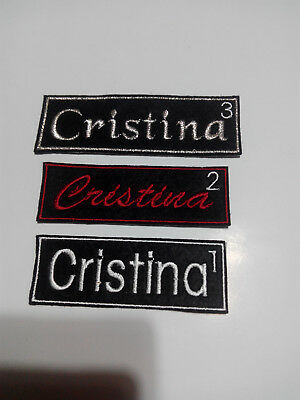 Parche bordado para coser con tu nombre personalizado 2