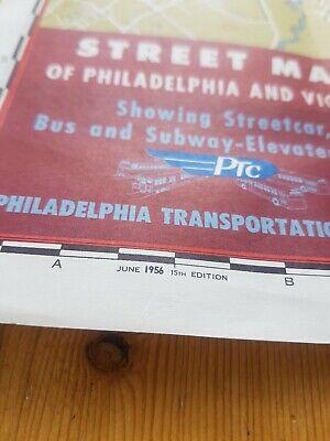 Philadelphia & Vicinity Street Car &. Subway map 1956 PTC Transit VGC Large 3