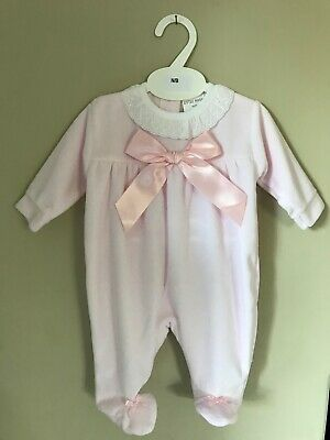 Baby girls clothes spanish style velour bows baby grow Newborn baby 0-9 months