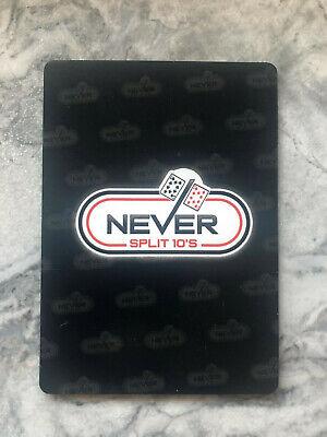 Never Split 10's Blackjack Strategy Plastic Card 2