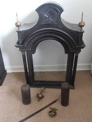 Antique 8 Day Brass Arch Dial Oak Grandfather Longcase Clock ALEX GORDON DUBLIN 12