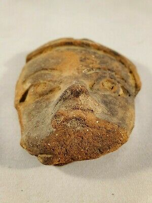 Beautiful Antique Small Pre-Colombian Face Motif 4
