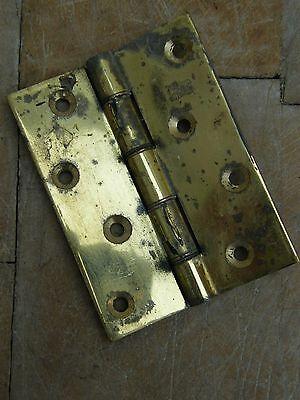 """A Large Reclaimed Brass Door Hinge 4"""" 6"""