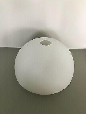 12 mm G4 Lampenschirm Ersatzglas Glasschirm Tulpe weiß mit dunklen Streifen
