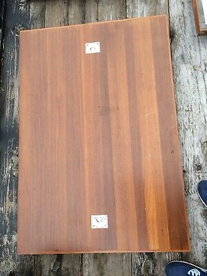 Vintage TEAK Yacht Boat Hatch Cover For Table Top Repurpose 2