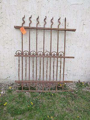 Antique Victorian Iron Gate Window Garden Fence Architectural Salvage Door #312 6