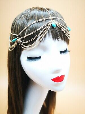 Gold Beads Hair Chain Headdress Grecian Laurel Bridal Greek Goddess Boho 97