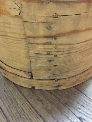 Early Primitive Large Wood Pantry Measure w/Wood Pegs & Wood Lacing ~ PR364