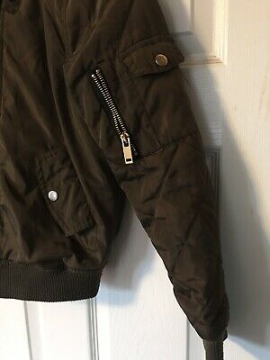 NEW LOOK ( 915 Generation ) girls green bomber jacket age 9 years 4