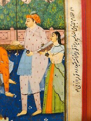 18Th-19Th C Antique Mughal (India) Miniature Illuminated Manuscript Opaque W/C 8
