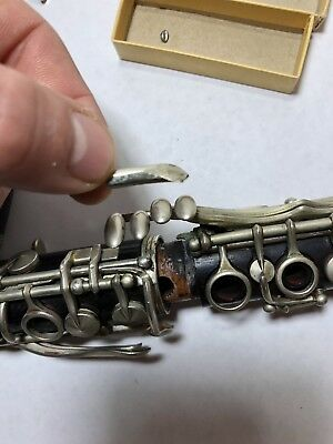 Vintage Professional Guy Humphrey Wood Clarinet Paris 50s Original Case 10
