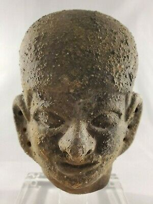 Amazing Archaic Style Bust Pottery on Clear acrylic display base -Mesoamercian? 6