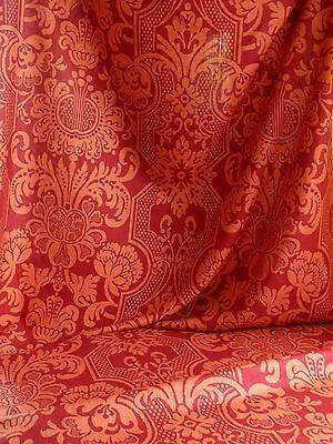 Vervain Trocadero 100%linen Print Berry Red Raspberry Bty #395