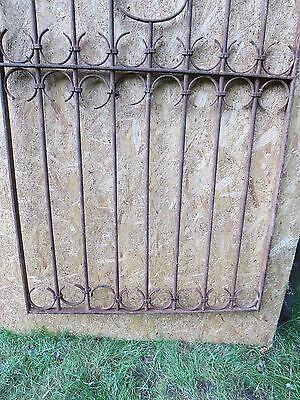 Antique Victorian Iron Gate Window Garden Fence Architectural Salvage Door GGG 3