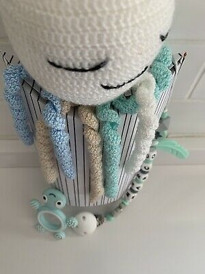 Pulpo Crochet + Chupetero Personalizado + Mordedor 2