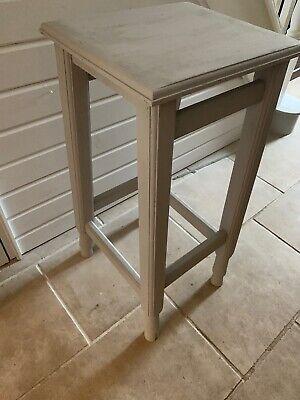 Stylish Plinth Display Stand Stool Table Paris Grey Old Pine 4
