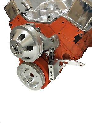 New Small Block Chevy Low Mount Alternator Bracket  Short Pump SBC SWP EWP 350