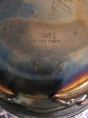 Vintage Footed Towle Silverplate Water Pitcher With Ice Guard 9