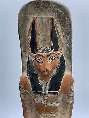 RARE EGYPTIAN EGYPT ANTIQUES ANUBIS God Deity Dog STATUE Carved 3.Kg STONE BC 5