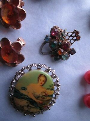 Jewellery various - earrings  and. broaches 4