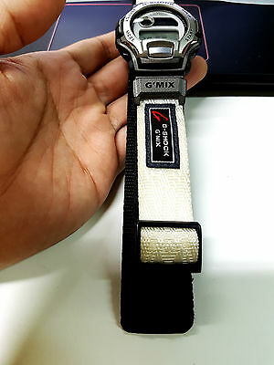 G-SHOCK VINTAGE METALLIC-GRAY White Hip-Hop BPM Counter Cloth Band Japan  Limited