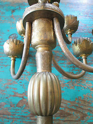 Antique Bronze Candelbra From Chandara India Circ. 1900 6
