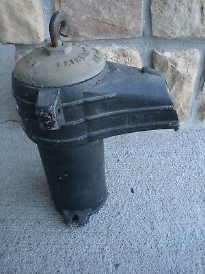 ANTIQUE  Fairbury Windmill Co. Fairbury, Neb. Cast Iron Pump Housing - Very Good 3