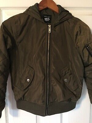 NEW LOOK ( 915 Generation ) girls green bomber jacket age 9 years 2